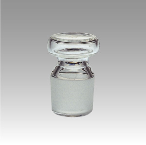 共通すり合わせ平栓 白 (メスフラスコ、メスシリンダー、共栓三角フラスコ用)