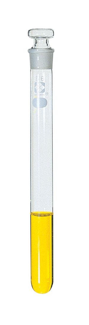 共通すり合わせ共栓試験管 目盛なし ガラス平栓付