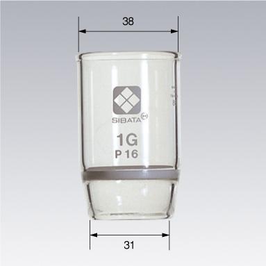 ガラスろ過器 1G るつぼ形