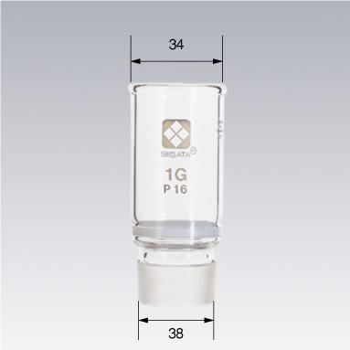 共通すり合わせガラスろ過器 1G るつぼ形 分離足式