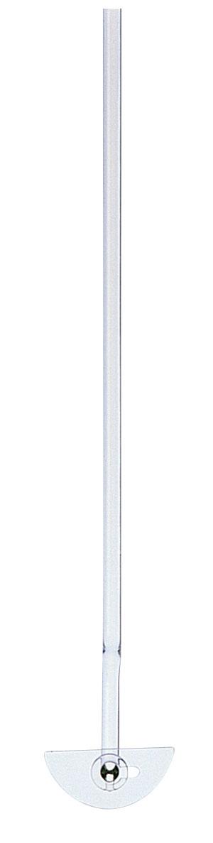 撹拌棒 半月形羽根用 ガラス製 全長600mm