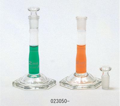 マイクロメスフラスコ スーパーグレード 共通すり合わせガラス平栓付