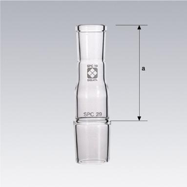 SPCセミ・ミクロソックスレー脂肪抽出器  SPC透明ジョイント用 連結管縮小用 SPC15、SPC24