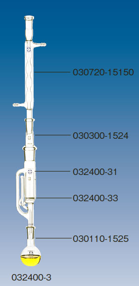 SPCセミ・ミクロソックスレー脂肪抽出器セット(平底フラスコ3コ付) SIBATA<sup>(H)</sup>