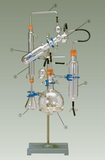ミクロ・ケルダール窒素蒸留装置 パルナス-ワグナー型