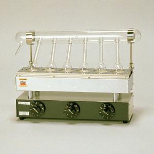ミクロ・ケルダール窒素分解器 ME-6型 6コ掛け 電熱式