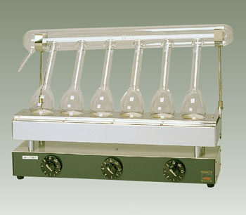 セミ・ミクロケルダール窒素分解器 SE-6型 6コ掛け 電熱式