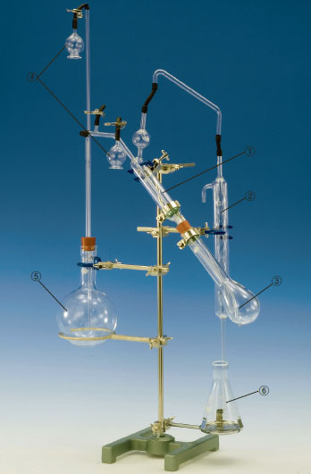 セミ・ミクロケルダール窒素蒸留装置 第15改正日本薬局方参考 スタンド一式付