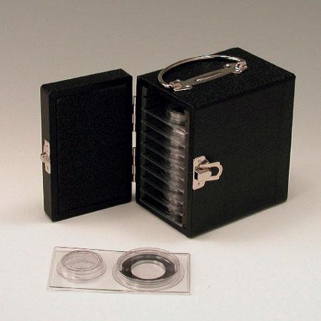 ローボリウム用ろ紙クリップ φ35mm 10組ケース 格納箱付