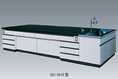 中央実験台 CKCシリーズ(側面流し台付)