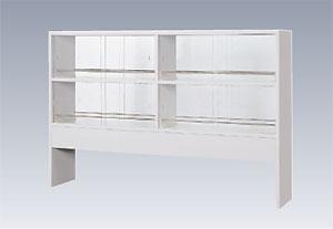 実験台用試薬棚  (両面ガラス戸2段棚タイプ)  NSRD型