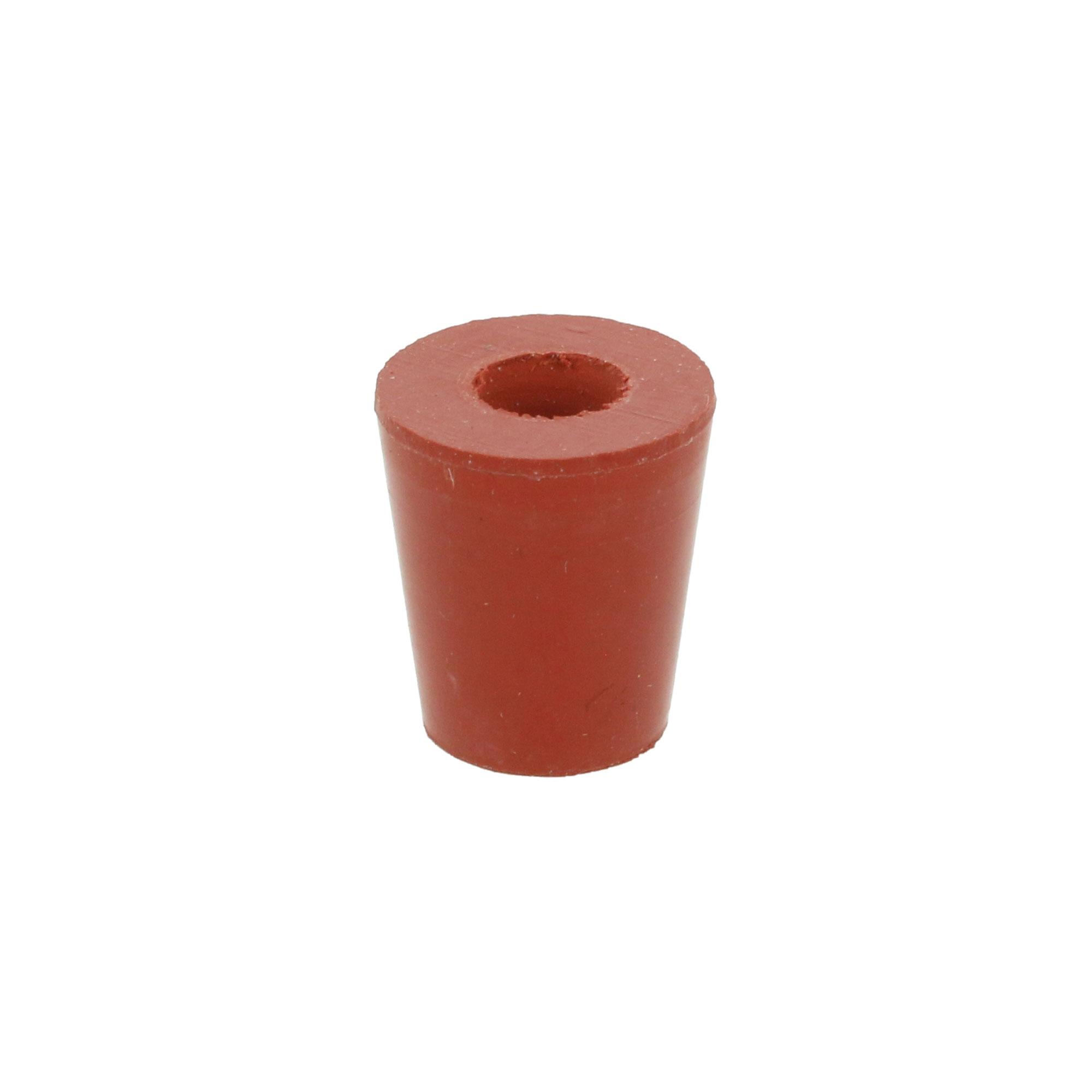 ひ素試験器用 ゴム栓No.0B 6mm穴付 5コ入