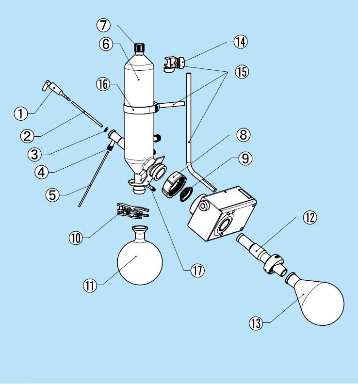 ロータリーエバポレーターR-300 C型ガラス部