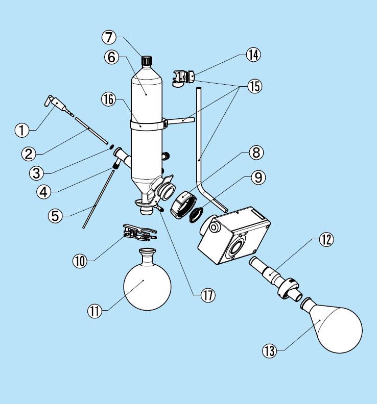 ロータリーエバポレーターR-300 V型ガラス部