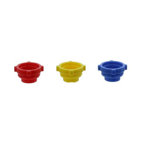 三色カラーキャップ 赤、青、黄 各1コ(CEマーキング品)